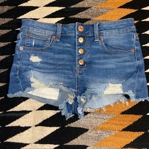 American Eagle high-rise button fly Shortie size 4
